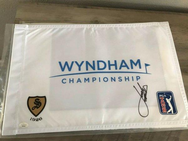 Jordan Spieth Autographed Signed Autograph Wyndham Flag Pga Golf JSA