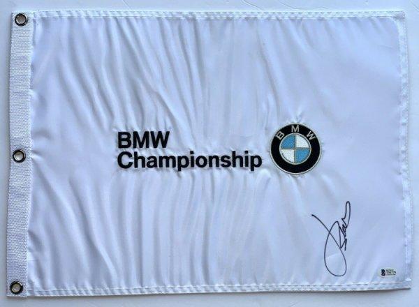Jordan Spieth Autographed Signed Bmw Golf Flag 2021 Masters Pga Beckett COA