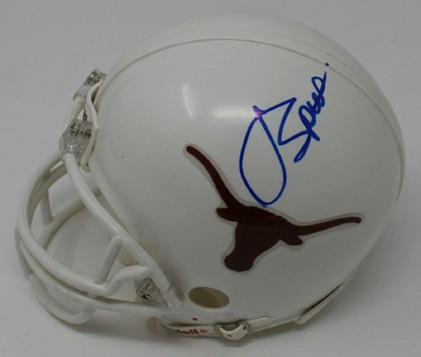Jordan Spieth Autographed Signed Mini Longhorns Helmet Autographed Pga Golf JSA