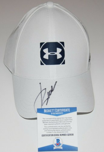 Jordan Spieth Autographed Signed (Under Armour) White Golf Hat Cap Beckett Authenticated COA
