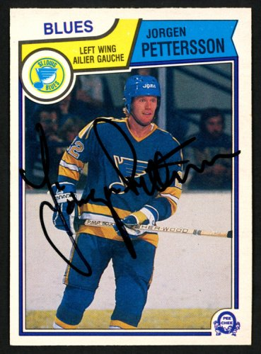 Jorgen Pettersson Autographed Signed Memorabilia 1983 -84 O -Pee -Chee Card #318 St. Louis Blues 151362 - Certified Authentic