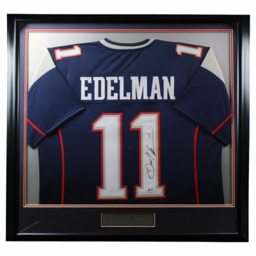 Julian Edelman Autographed Signed New England Patriots Standard Framed Jersey - BAS Authentic