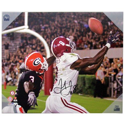 Julio Jones Alabama Crimson Tide Canvas Catch vs UGA - JSA Certified Authentic