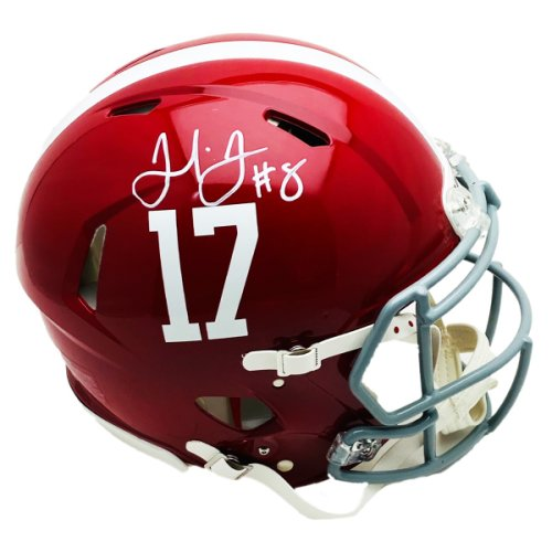 Julio Jones Alabama Crimson Tide Riddell Speed Authentic Full Size Helmet - White Pen - JSA Certified Authentic