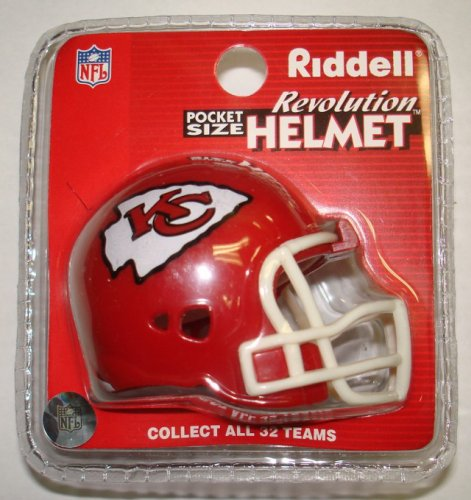 Kansas City Chiefs Riddell Pocket Pro Football Helmet