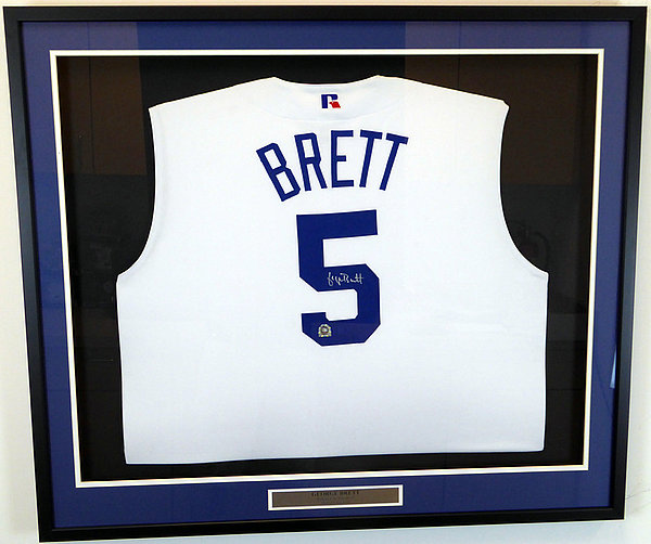 a74cddc543c Kansas City Royals George Brett Autographed Signed Framed White Russell  Jersey Vest MLB Holo  MT00551479