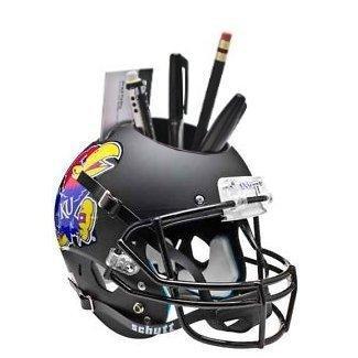 Kansas Jayhawks NCAA Football Schutt Mini Helmet Desk Caddy