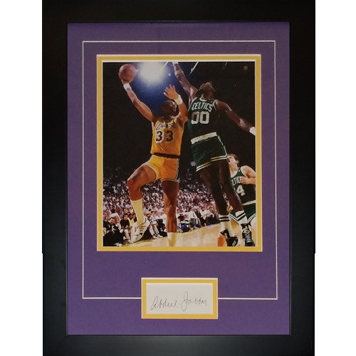 4a8e673217d Kareem Abdul Jabbar Autographed Signed Auto Los Angeles Lakers Signature  Series Frame - Certified Authentic