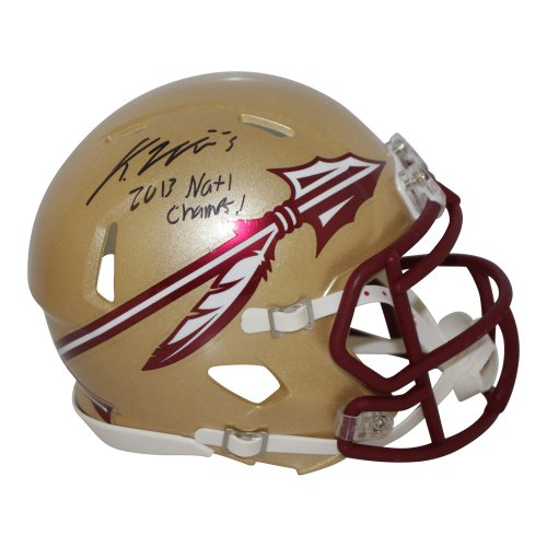 Karlos Williams Autographed Signed Florida State Seminoles Speed Gold Mini Helmet 2013 Natl Champs!- Certified Authentic
