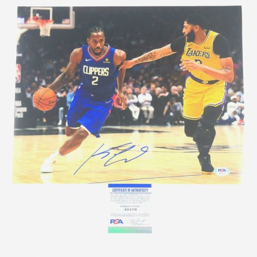 Kawhi Leonard Autographed Signed 11X14 Photo PSA/DNA Los Angeles Clippers Autographed
