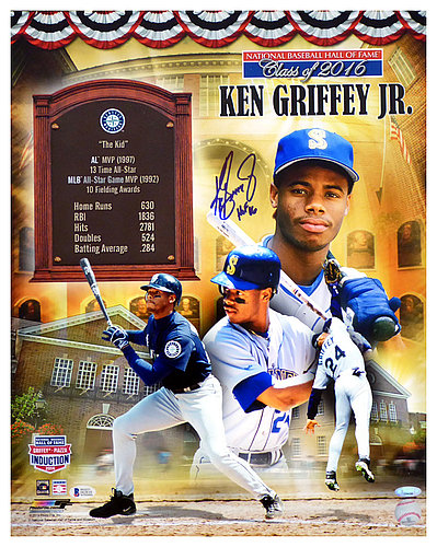 2fa1ce35db Ken Griffey Jr. Autographed Signed 16x20 Photo HOF 16 HOF Collage Seattle  Mariners - Beckett
