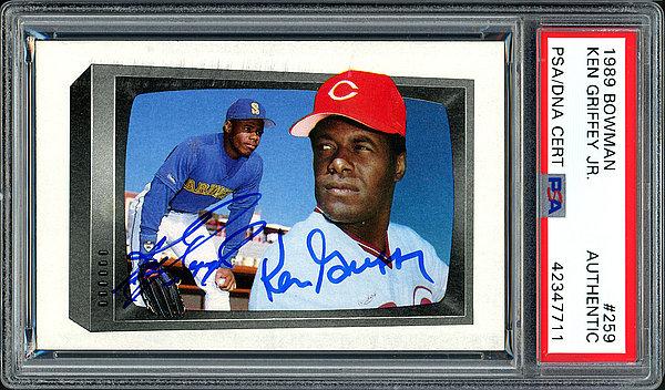 54c415a7b3 Ken Griffey Jr. & Ken Griffey Sr. Autographed Signed Memorabilia 1989  Bowman Rookie Card #259 Seattle Mariners - PSA/DNA Authentic KEN