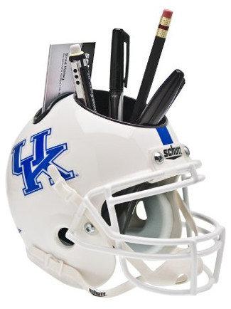 Kentucky Wildcats NCAA Football White Schutt Mini Helmet Desk Caddy