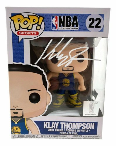 Klay Thompson Autographed Signed Hand Funko Pop #22 Fanatics COA Golden State Warriors W