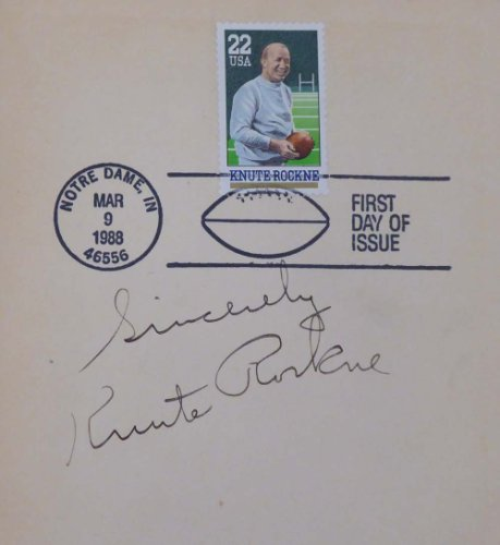 Knute Rockne Autographed Signed Memorabilia The Four Winners Book Sincerely Notre Dame Fighting Irish - Beckett Authentic