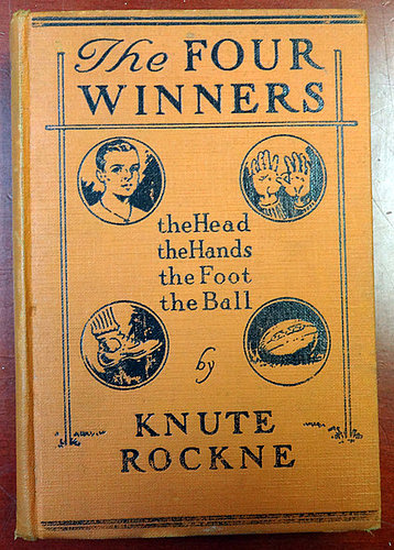 Knute Rockne Autographed Signed The Four Winners Book Sincerely - PSA/DNA Certified