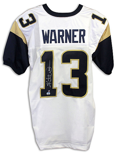 watch f75f3 15011 Kurt Warner Autographed Signed St. Louis Rams White Panel ...