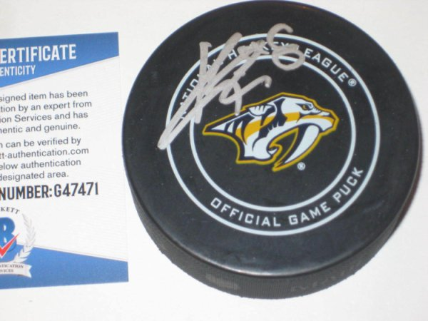 Kyle Turris Autographed Signed Nashville Predators Official Game Puck With Beckett COA