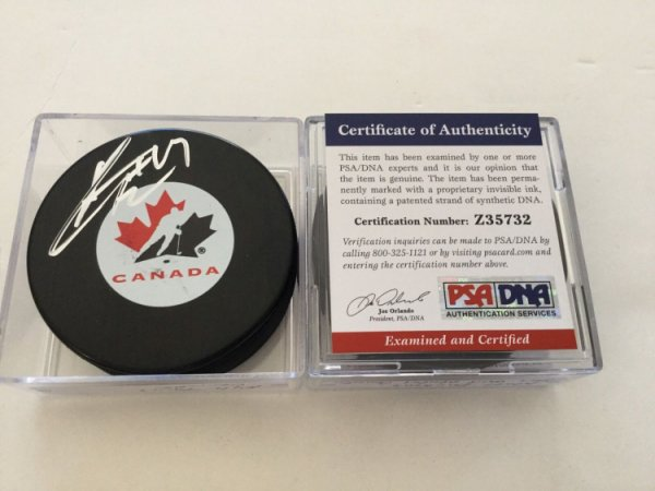 Kyle Turris Autographed Signed Team Canada Hockey Puck PSA DNA COA Autographed A