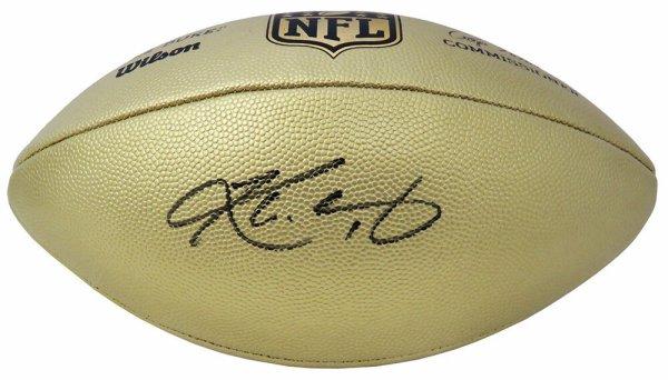 Kyler Murray Autographed Signed Wilson Duke Gold Metallic NFL Full Size Replica Football