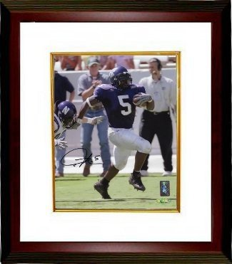 Ladainian Tomlinson Autographed Signed TCU Horned Frogs 8x10 Deluxe Framed PhotoTomlinsons - Certified Authentic