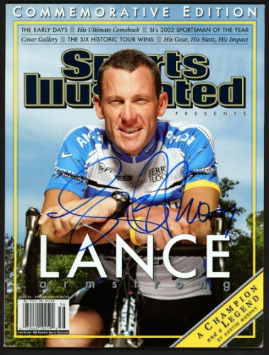 Lance Armstrong Autographed Signed Sports Illustrated Magazine Beckett BAS #A28320