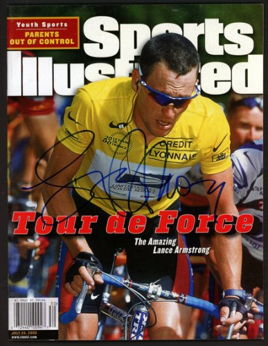 Lance Armstrong Autographed Signed Sports Illustrated Magazine No Label Beckett BAS #A28319