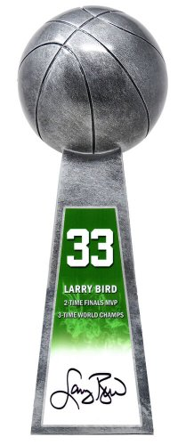 Larry Bird Autographed Signed Basketball Champion 14 Inch Replica Silver Trophy