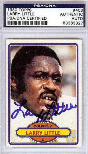 Larry Little Autographed Signed 1980 Topps Card - PSA/DNA Certified