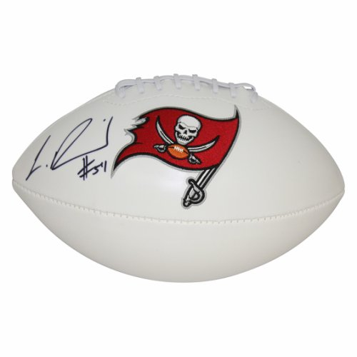 03ffd11d9b6 Lavonte David Tampa Bay Buccaneers Autographed Signed White Panel Logo  Football - Certified Authentic