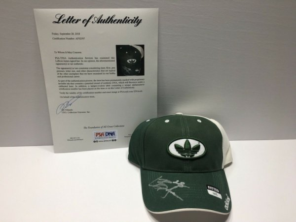 Lebron James Autographed Signed Adidas High School Hat PSA/DNA St Vincent St Mary Lakers