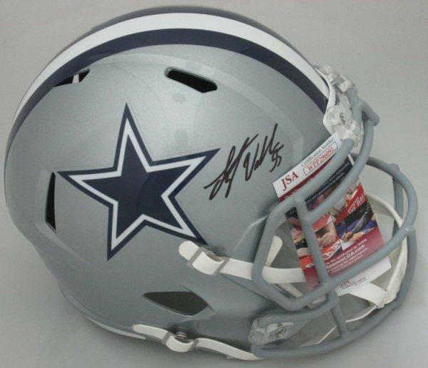 Leighton Vander Esch Autographed Signed Cowboys Replica Full Size Speed Helmet Auto - JSA