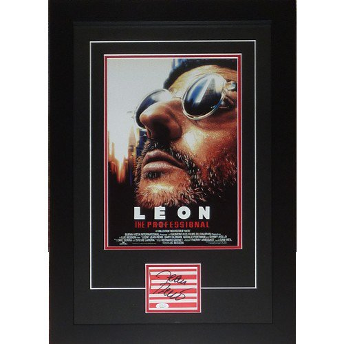 Leon The Professional 11X17 Movie Poster Deluxe Framed with Jean Reno Autograph - JSA