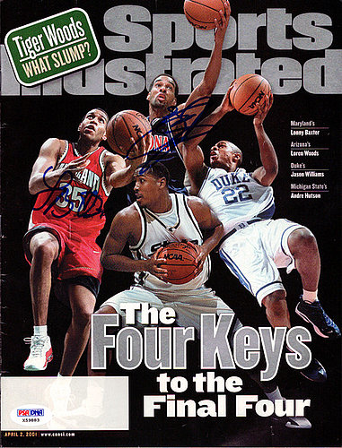 Lonny Baxter and Loren Woods Autographed Signed Sports Illustrated Magazine - PSA/DNA Certified