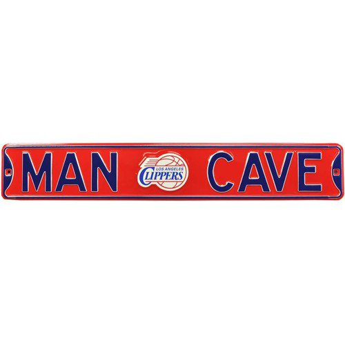 Los Angeles Clippers MAN CAVE Authentic Street Sign