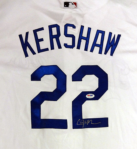 c0b1ccf3988 Los Angeles Dodgers Clayton Kershaw Autographed Signed White Majestic Cool  Base Jersey Size XXL - PSA DNA Certified
