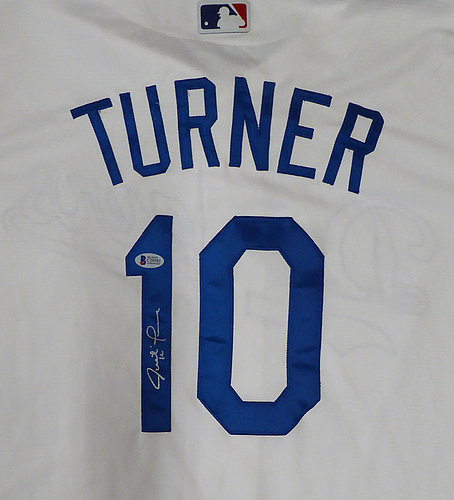 6a4b178f1 Los Angeles Dodgers Justin Turner Autographed Signed White Majestic Cool  Base Jersey Size XL - Beckett