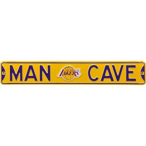 Los Angeles Lakers MAN CAVE Authentic Street Sign