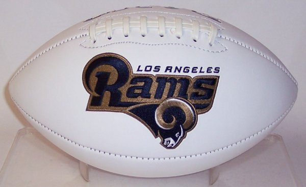 Los Angeles Rams Embroidered Logo Signature Series Football