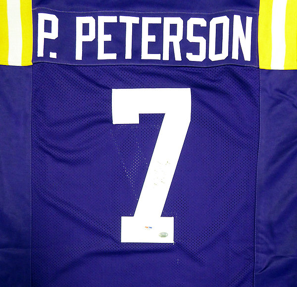 390113245 LSU Tigers Patrick Peterson Autographed Signed Purple Jersey - PSA/DNA  Authentication