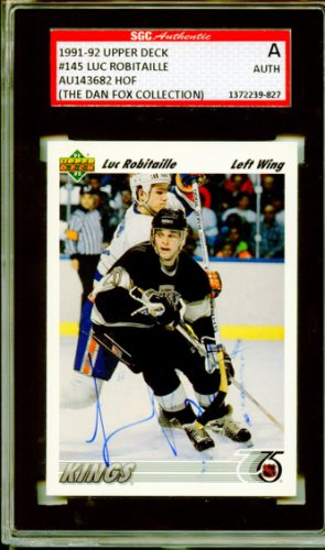 17bdccf8 Luc Robitaille 1991-92 Upper Deck Los Angeles Kings Autographed Signed  Trading Card - SGC