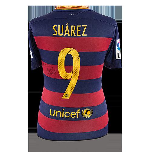 huge discount 974f2 a1743 Luis Suarez Autographed Memorabilia | Signed Photo, Jersey ...