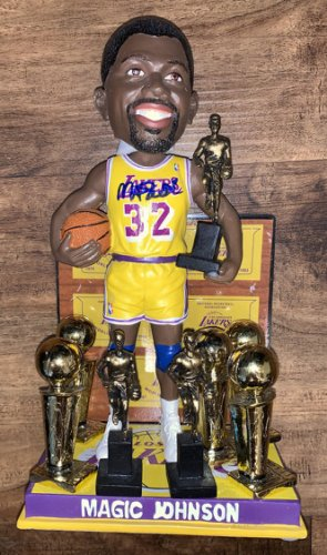 Magic Johnson Autographed Signed Lakers 5X Champ 3X MVP Bobblehead Beckett Beckett Authentic COA