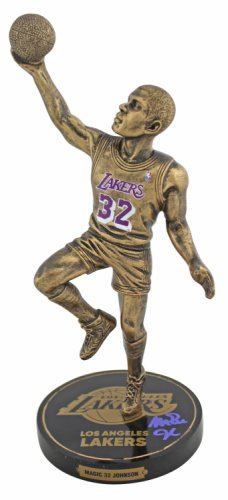 Magic Johnson Autographed Signed Lakers Authentic 9.5 Inch Bronze Figurine Beckett Witnessed