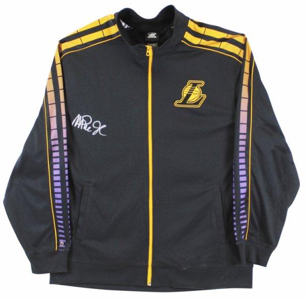 Magic Johnson Autographed Signed Lakers Black Adidas Warmup Jacket Size Xxl Beckett Wit #Mj17338