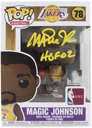 Magic Johnson Autographed Signed Lakers HOF 02 NBA Hwc #78 Funko Pop Vinyl Figure Sig Beckett
