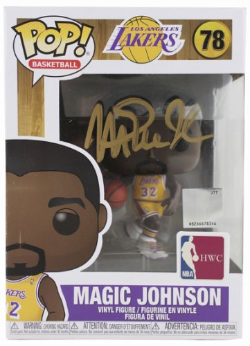 Magic Johnson Autographed Signed Lakers NBA Hwc #78 Funko Pop Vinyl Figure With Gold Sig Beckett