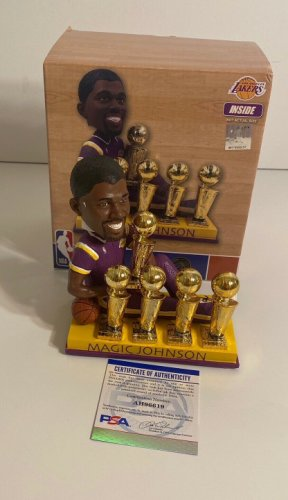 Magic Johnson Autographed Signed Los Angeles Lakers Basketball Bobblehead Beckett