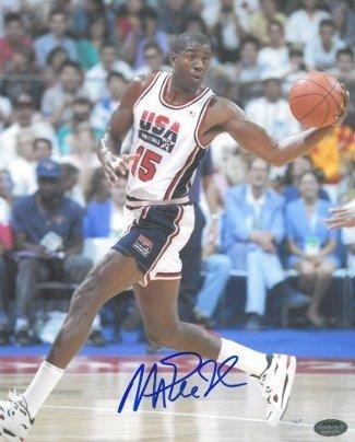 c4cb7871671e5 Magic Johnson & Larry Bird Dual Autographed Signed Lakers vs Celtics ...