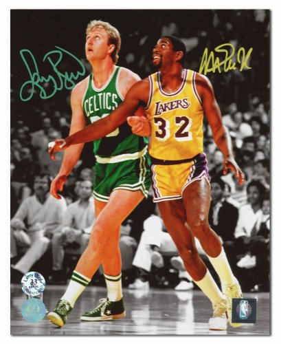 1a1c53a62d6d Magic Johnson   Larry Bird Dual Autographed Signed Lakers vs Celtics Spotlight  8x10 Photo - Certified Authentic